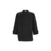 Winco UNF-6K Small Black Poly-Cotton Men's Tapered Fit Chef Jacket