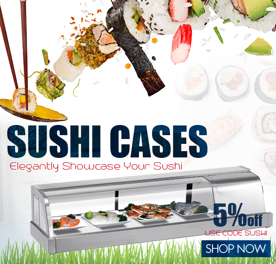 Commercial Sushi Cases On Sales Vancouver BC Canada