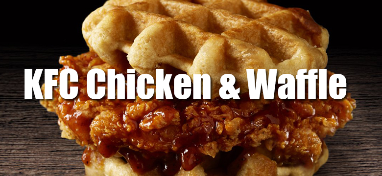 KFC Chicken Waffle Sandwich