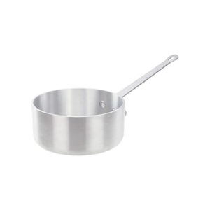 Winco ASP-2SW 2 1/2 Qt Heavy Duty Straight Sided Aluminum Sauce Pan