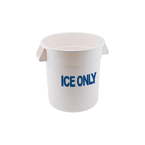 Winco FCW-20ICE 20 Gallon White Polyethylene Ice Only Container