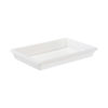 "Winco PFFW-3 Full Size White Food Storage Box - 3"" Deep"