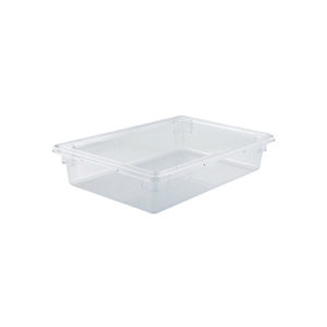 "Winco PFSF-6 Full Size Clear Food Storage Box - 6"" Deep"