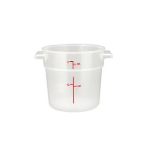 Winco PTRC-1 Polypropylene Round Food Container