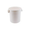 Winco FCW-20 20 Gallon Heavy Duty White Polypropylene Bulk Food Container