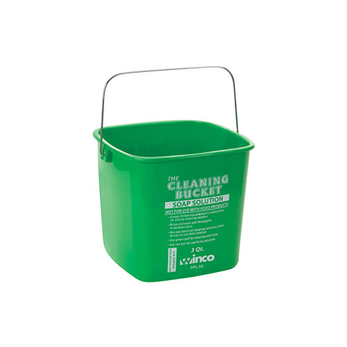 Winco PPL-3G 3 Qt Green Cleaning Bucket