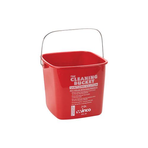 Winco PPL-6R 6 Qt Green Cleaning Bucket