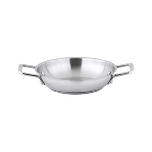 "Winco SSOP-8 8"" Stainless Steel Round Omelet Pan"