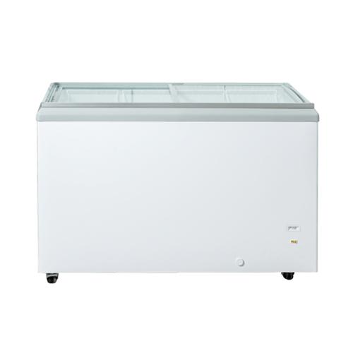 New Air NIF-50-FG 50″ Flat Glass Top Ice Cream Freezer