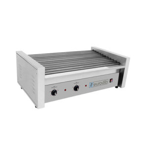 "Eurodib SFE01630 11"" x 32"" Electric 50 Hot Dog Roller Grill"