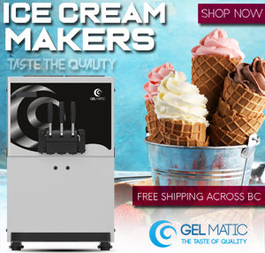 Gelmatic-Soft Ice Cream Machine Free Shipping Vancouver Canada