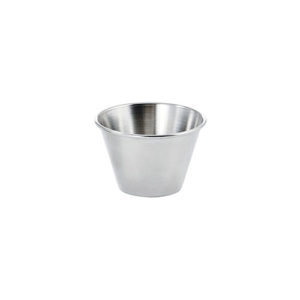 Winco SCP-15 1 1/2 Oz Stainless Steel Sauce Cup - 12 / Pack