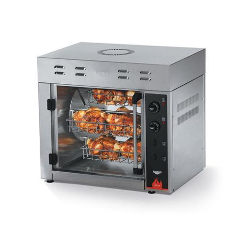 Vollrath 40704 Cayenne 8 Bird Electric Countertop Chicken Rotisserie Oven - 3Ph, 208V