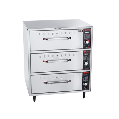Hatco HDW-3N Freestanding Narrow Three Drawer Warmer