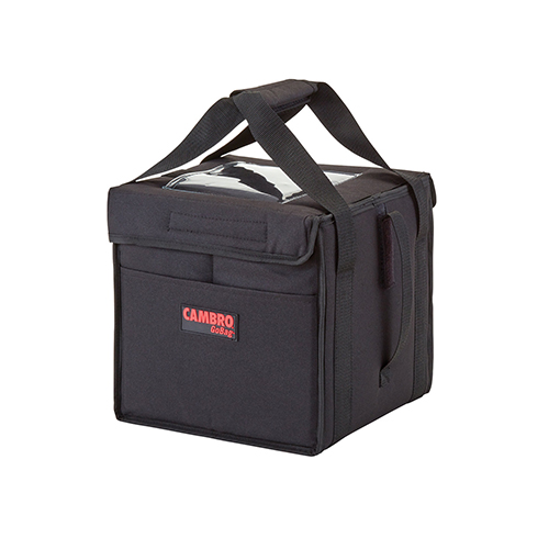 Cambro GBD101011110 Insulated Black Small Folding Food Delivery Bag