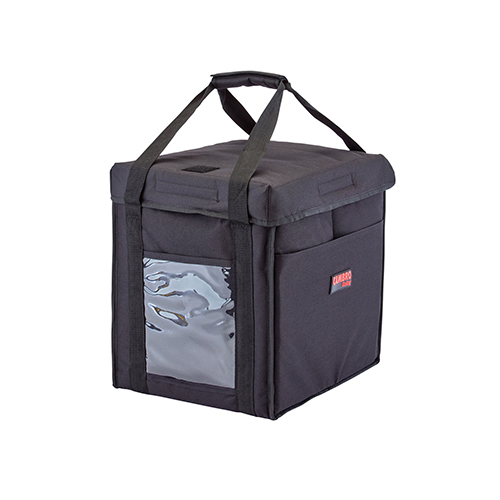 Cambro GBD121515110 Insulated Black Medium Folding Food Delivery Bag