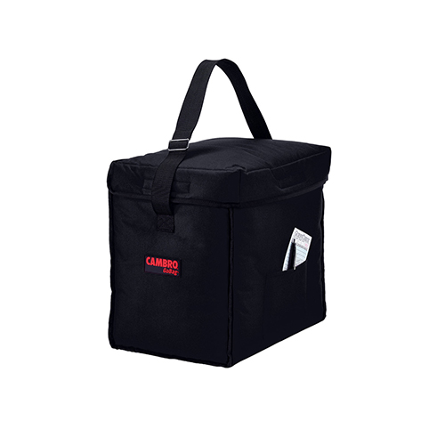 Cambro GBD13913110 Insulated Black Small Top Loading Food Delivery Bag