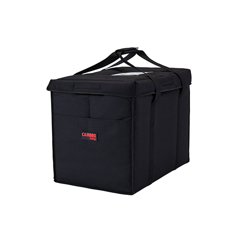 Cambro GBD211417110 Insulated Black Large Folding Food Delivery Bag