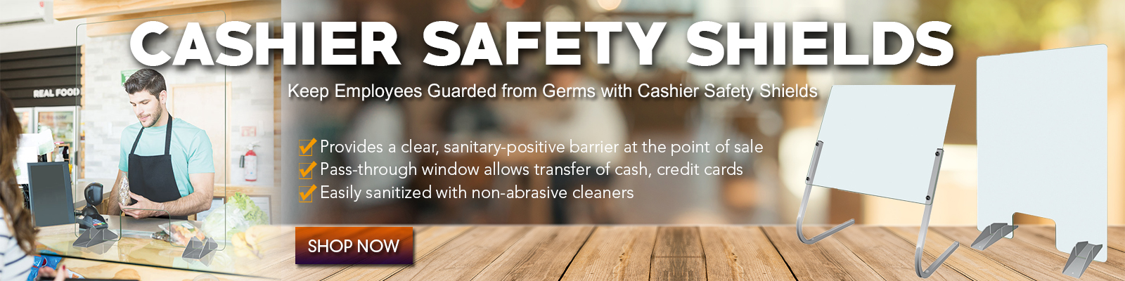 Cashier Safety Shields, Restaurant Equipment supplies