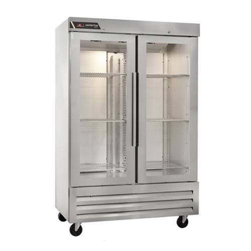 """Centerline CLBM-49R-HG 54"""" 2 Door Glass Reach In Refrigerator"""