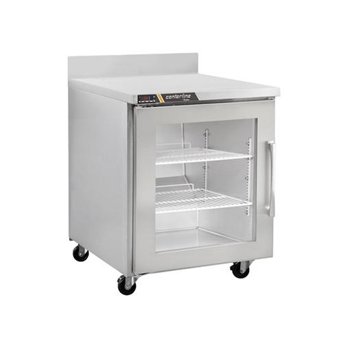 Centerline CLUC-27R-GD-WT 27″ 1 Door Glass Worktop Refrigerator