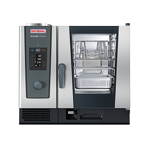 Rational iCombi Classic ICC-6-HALF-E LM200BE 6 Pan Half Size Electric Combi Oven - 1Ph, 208V
