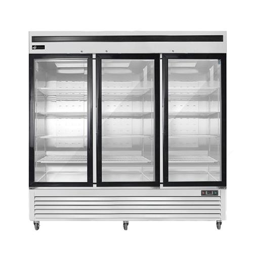 EFI F3-82GDSVC 82″ Three Door Glass Reach In Freezer