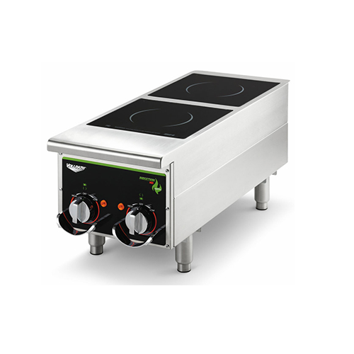 Vollrath 912HIMC Cayenne Dual Hob Heavy Duty Countertop Induction Cooker / Range - 208V, 2500W
