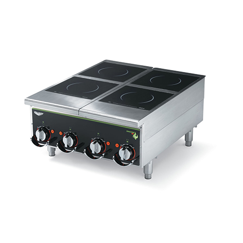 Vollrath 924HIMC Cayenne Four Hob Heavy Duty Countertop Induction Cooker / Range - 208V, 2500W